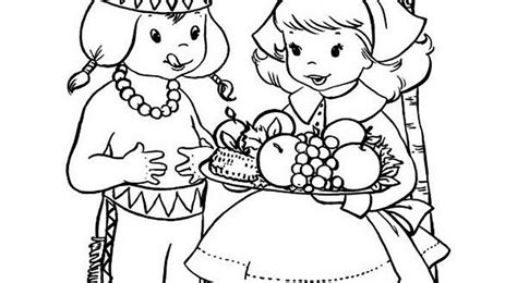 pilgrim boy and girl coloring pages coloring pages for