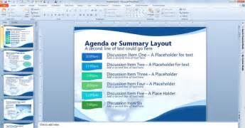 meeting agenda template powerpoint agenda or summary layout in powerpoint presentation