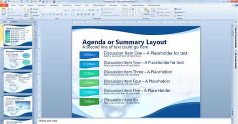 Agenda Or Summary Layout In Powerpoint Presentation Powerpoint Meeting Agenda Template