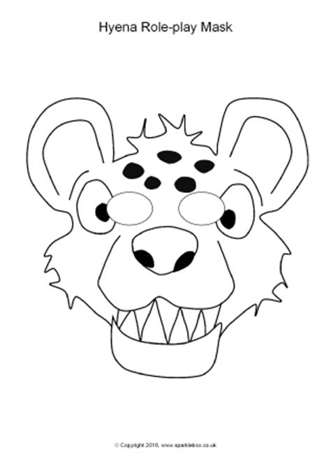 printable hyena mask template hyena role play masks sb11398 sparklebox