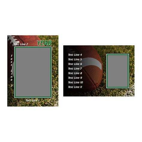 football trading card template football product templates h h color lab