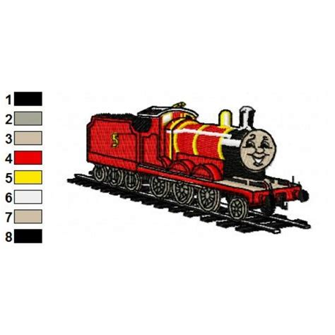 embroidery design train thomas the train james embroidery design 02