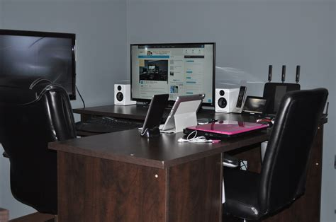 pc home office setup workstation setups