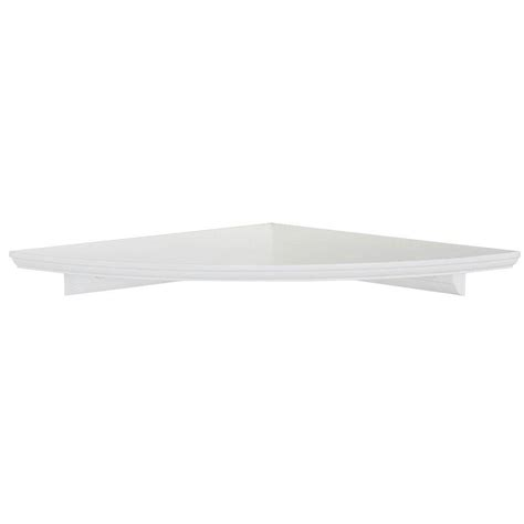 12 in w white floating mdf corner shelf hdrcc12w the