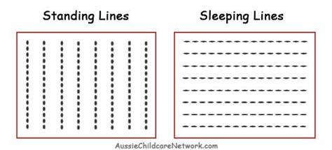 standing line pattern worksheets for kindergarten prewriting skills standing sleeping lines jpg preschool