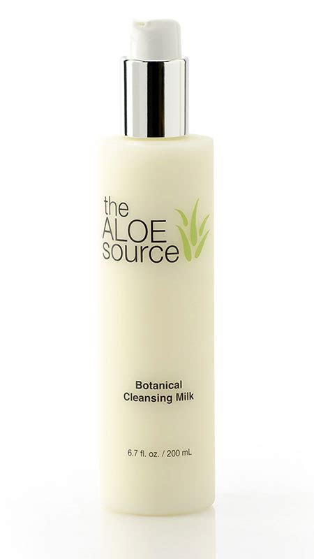 Milk Cleanser With Aloe Vera Extract botanical cleansing milk aloe vera care the aloe source