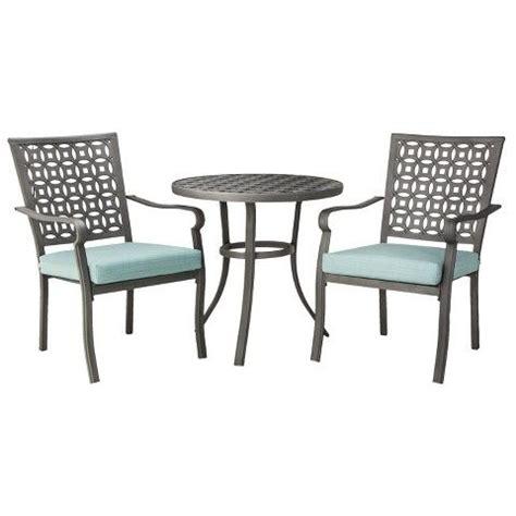 outdoor furniture hawthorn hawthorne 3 metal patio bistro furniture set blue threshold furniture sets patios