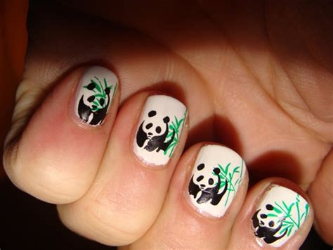 imagenes de uñas decoradas de ositos u 241 as pintadas de oso panda