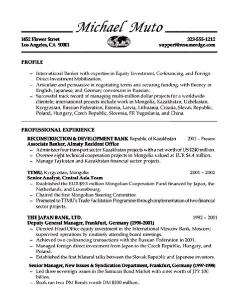 Banker Resume Objective by Banker Resume