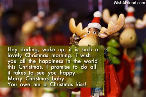 hey darling wake    christmas love message