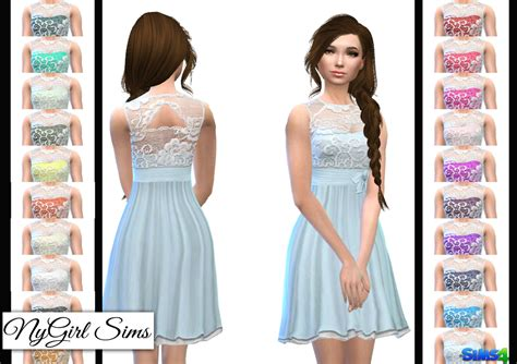 lace shirt the sims 4 nygirl sims 4 layered lace flare dress