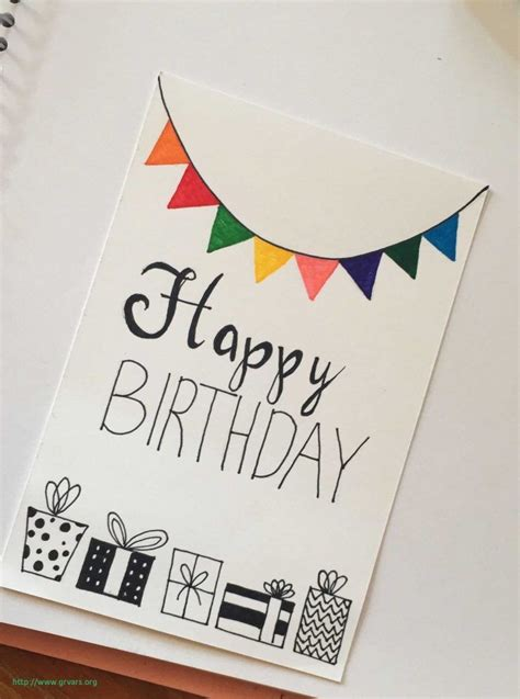 diy birthday cards ideas birthday card drawing creative