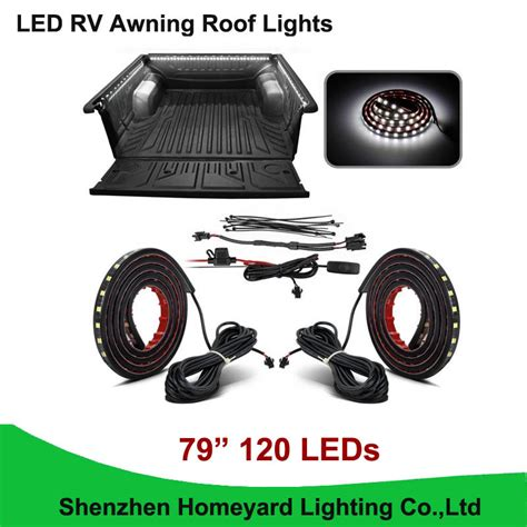led awning lights for cers 1set pcs 79 quot white led rv awning roof lights custom made