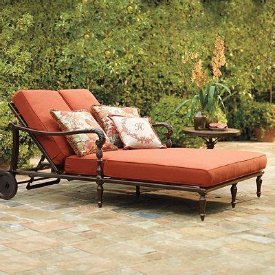 british colonial double chaise lounge with cushions
