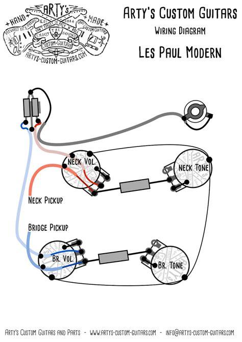 artys custom guitars wiring diagram plan les paul