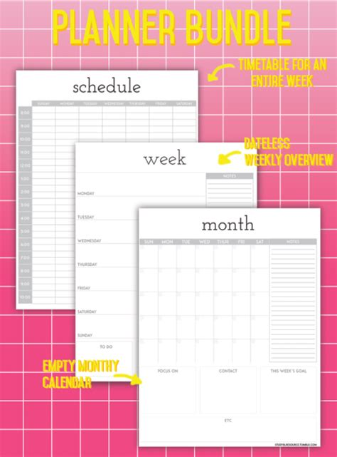 printable revision planner free worksheets 187 printable revision timetable free math