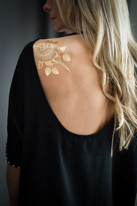 gold ink tattoos 81 mesmerizing glossy metallic ink designs