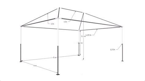 gazebo 5x4 tenda gazebo 5x4