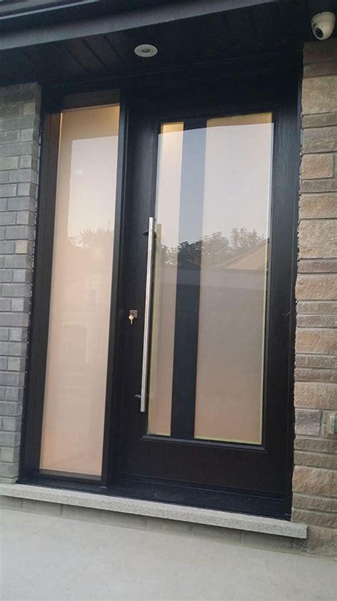 modern exterior fiberglass laser cut door  frosted