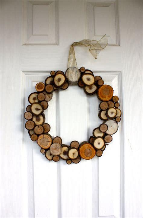 Loft Bedroom Ideas woodland christmas all natural wood slice wreath decor
