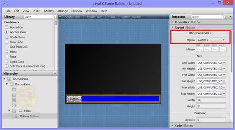 javafx layout constraints why won t the children in my javafx hbox grow