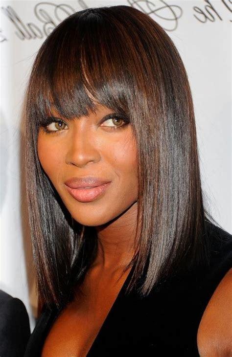 Sleek Bob Hairstyles by 15 Best Of Bob Hairstyles For Black With Sleek Bangs
