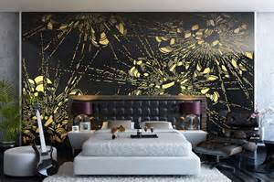 Ideal Decor Wall Murals Bedroom Decorating Ideas Flowers Wall Mural Interior Design
