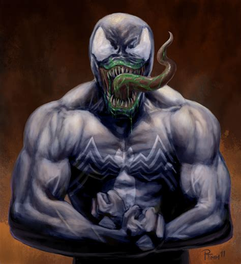 venom painting venom speed painting by ptimm on deviantart