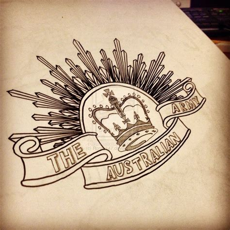 badge tattoo australia anzac badge drawing by roney147 ideas