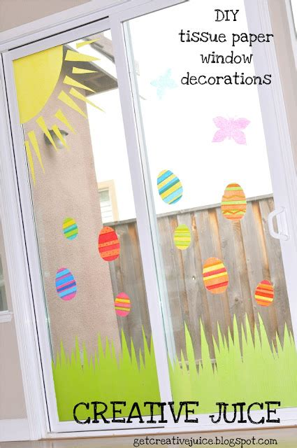 window paper decorations weekly inspiration easter window decoration crafts with