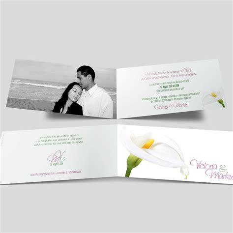 Hochzeitskarten Foto by Foto Hochzeitskarten Wei 223 E Calla