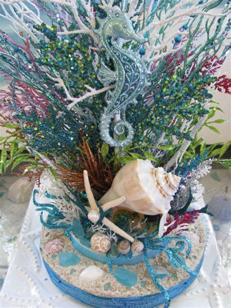 coral reef centerpieces 17 best ideas about seashell centerpieces on