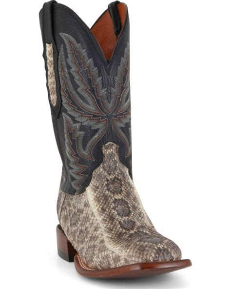 western square toe boots for lucchese s rattlesnake and calf western boots wide