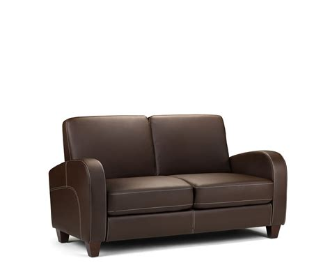 Leather 2 Seater Sofas Vivo 2 Seater Faux Leather Sofa