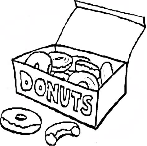 donuts colouring pages cliparts co