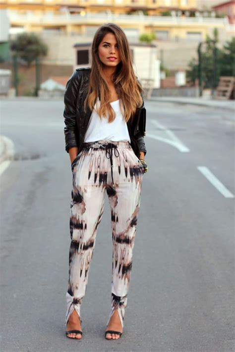 black and white pattern pants outfit how to wear loose printed pants i heart bargainsi heart