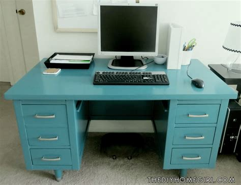 how to paint a desk my vintage tanker desk makeover the diy homegirl