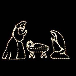 light nativity lighted nativity
