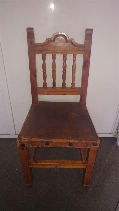 sillas rusticas de madera  en mercado libre