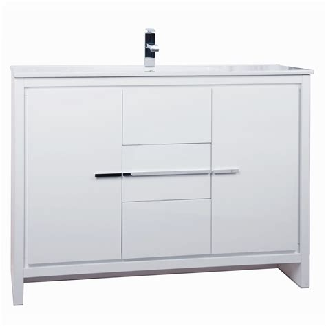 white bathroom vanity 48 inch buy cbi enna 48 inch modern bathroom vanity high gloss