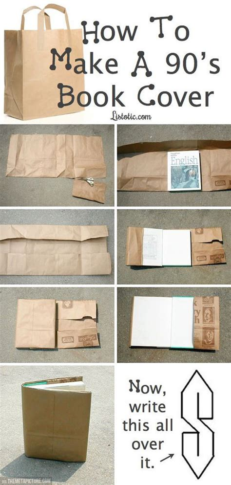 How To Make Book Cover From Paper Bag - 90 s book covers the meta picture