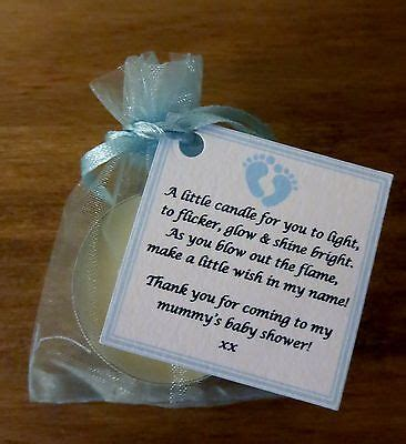 Personalised Baby Shower Favours by New Baby Shower Favours Vanilla Candle Can Be