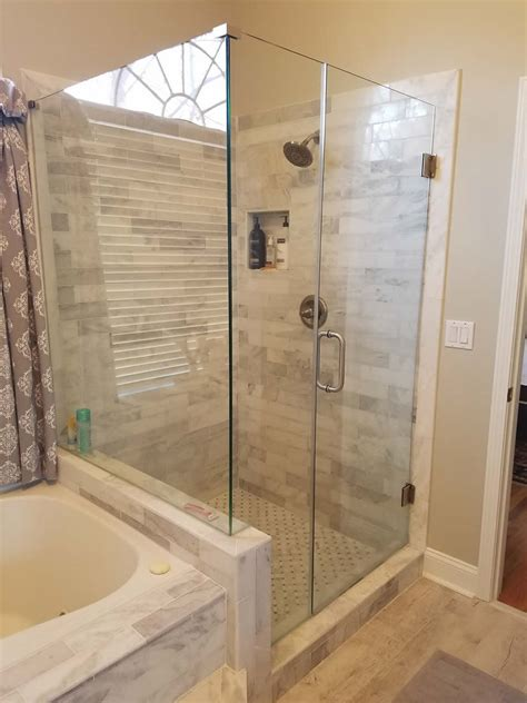 frameless tub shower doors atlanta frameless shower doors tub surrounds