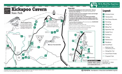 caverns in texas map kickapoo cavern texas state park facility trail and location map kickapoo cavern texas mappery