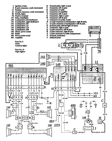 1992 volvo 940 radio wiring diagram wiring diagram