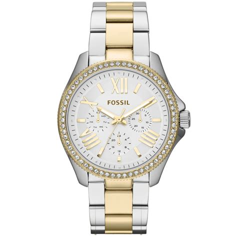 Fossil Emerson Two Tone White lyst fossil womens cecile twotone stainless steel