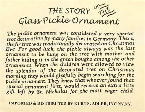 german christmas pickle tradition of the german pickle