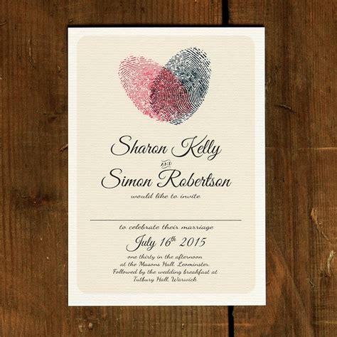 Sapu Tangan Disney fingerprint wedding invitation feel wedding