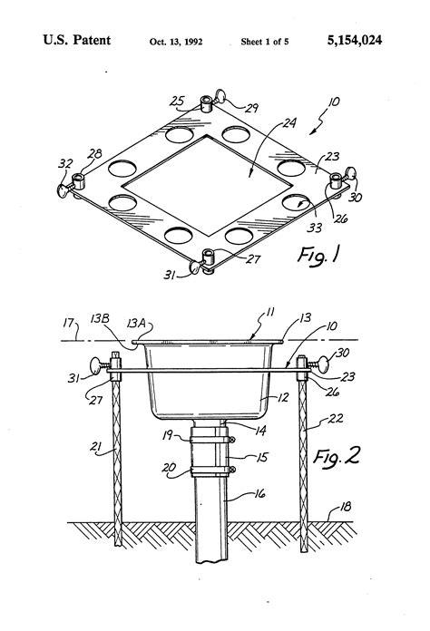 Floor Sink Detail by Patent Us5154024 Floor Sink Drain Installation Method