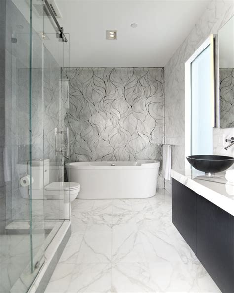 calacatta gold marble bathroom calacatta gold bath by epc management modern bathroom new york by artistic tile